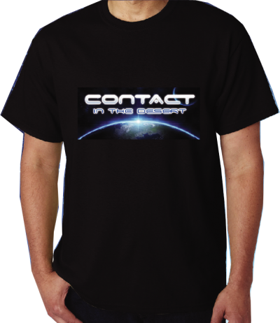 CONTACT in the DESERT T-Shirt (Black w/Planet Logo) image
