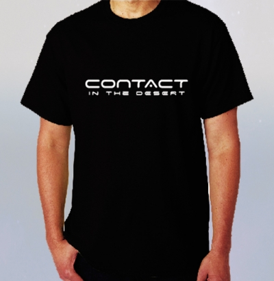 CONTACT in the DESERT Black T-Shirt with CITD Logo  image