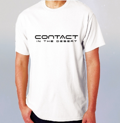 CONTACT in the DESERT White T-Shirt with CITD Logo  image