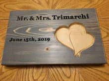 Wedding Sign with 3D Hearts